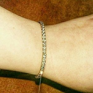 Claire's Shiny Glistening Crystal Elastic Bracelet